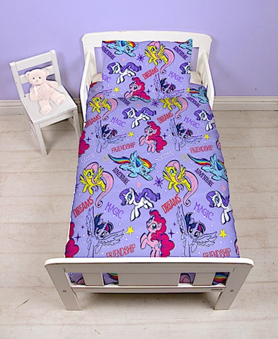 "Official My Little Pony Adventure ""Reversible"" Junior, Toddler or Cot Duvet Cover Bedding Set"