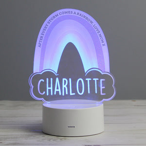Personalised Rainbow LED Colour Changing Night Light