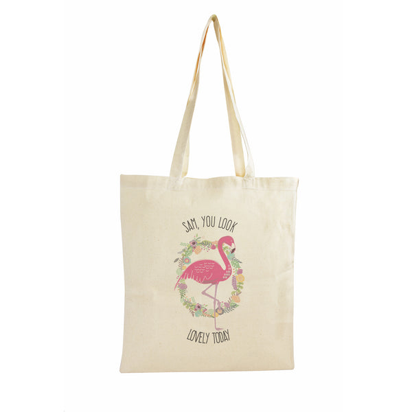 Personalised Flamingo Cotton Bag