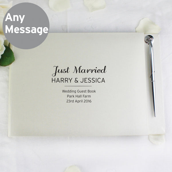 Personalised Classic Hardback Guest Book & Pen