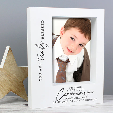 Personalised 'Truly Blessed' First Holy Communion 7x5 Box Photo Frame