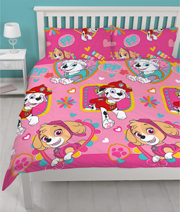 "Official PAW Patrol Forever ""Reversible"" Double Duvet Cover Bedding"