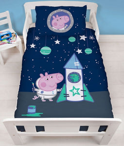 "Official George Pig Boom ""Reversible"" Junior, Toddler or Cot Duvet Cover Bedding Set"
