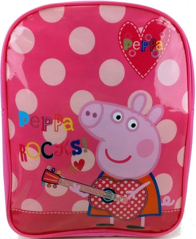 Official Peppa Pig Rocks! Character Junior School Backpack