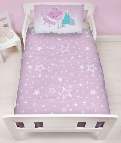 "Official Peppa Pig Sugarplum ""Reversible"" Junior, Toddler or Cot Duvet Cover Bedding Set"