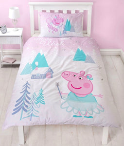 "Official Peppa Pig Sugarplum ""Reversible"" Single Duvet Cover Bedding Set"
