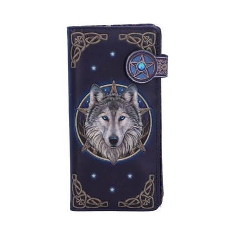Lisa Parker Wild One Wolf Embossed Purse Wallet