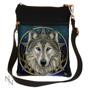 Wild One (LP) Shoulder Bag 23cm Small The Wild One Fantasy Wolf Shoulder Bag by Lisa Parker