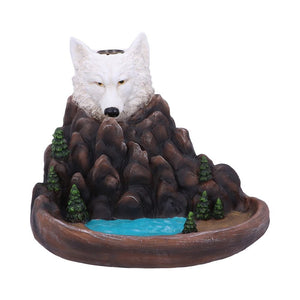 Wild Ridge Wolf and Mountain Pool Backflow Incense Cone Burner