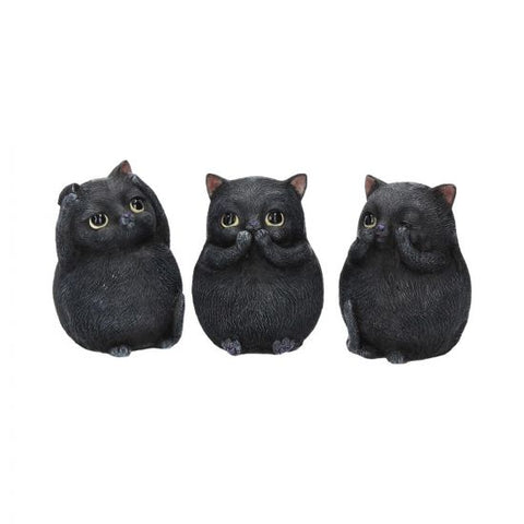 Three Wise Fat Cats 8.5cm (PRE-ORDER)