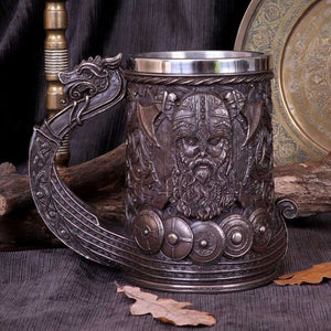 Bronze Drakkar Viking Tankard 15cm- PRE ORDER STOCK DUE IN 14/09/20