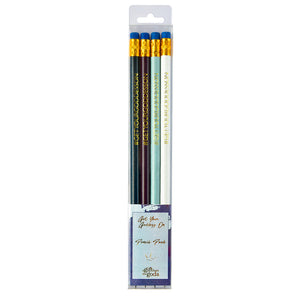Get Your Goddess On Graffiti Blue Pencil Set