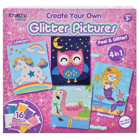 CREATE YOUR OWN GLITTER PICTURES