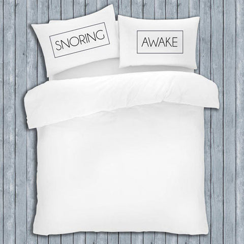 NOVELTY SLOGAN PILLOW CASES SNORING