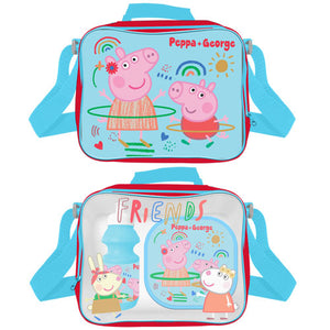 OFFICIAL PEPPA & GEORGE PIG LUNCH BAG SET 3 PIECE