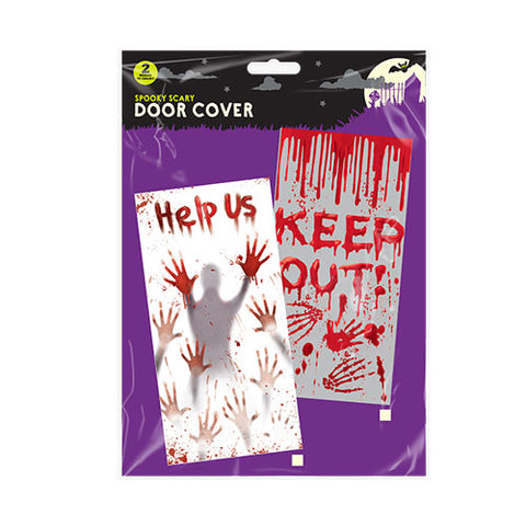 HALLOWEEN SPOOKY DOOR COVERS