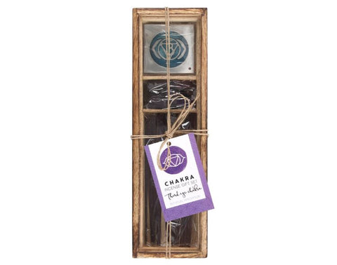Third Eye Chakra Wooden Incense Gift Set-Lavender