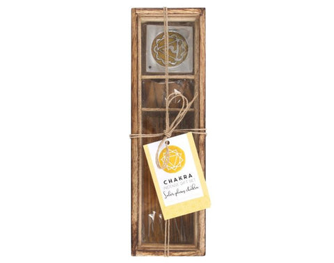 Solar Plexus Chakra Wooden Incense Gift Set- Lemon