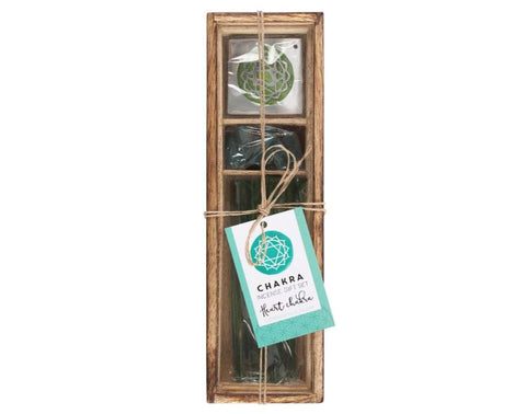 Heart Chakra Wooden Incense Gift Set- Mint