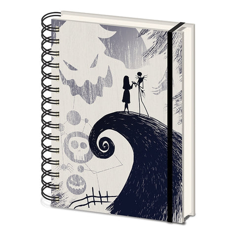 Nightmare Before Christmas A5 Notebook Spiral Hill