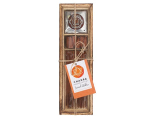 Sacral Chakra Wooden Incense Gift Set- Orange