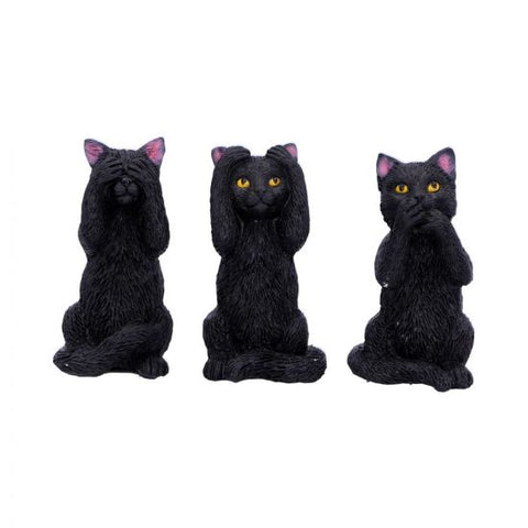 Three Wise Felines 8.5cm, (PRE ORDER) Stock Due: 30/11/20