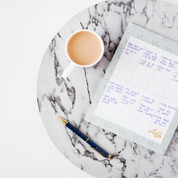 Get Your Goddess On Crowns Grey Weekly Planner