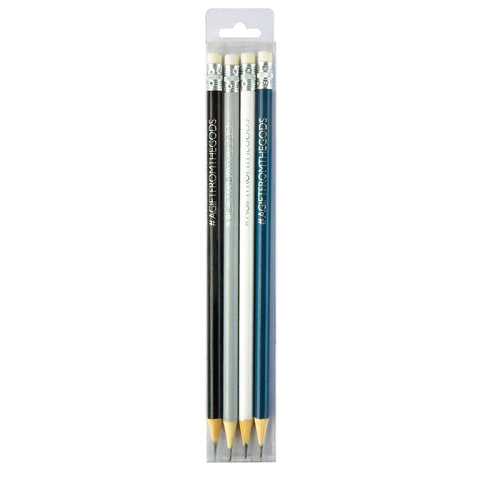 A Gift From The Gods Geo White Pencil Set