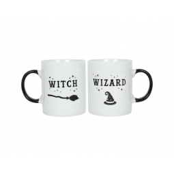 Witch & Wizard Mug Set