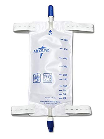 Medline Leg Bag Set 16oz w/Tubing
