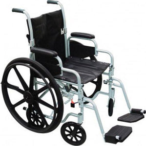 Poly Fly Transport Chair/Wheelchair Combo 18width