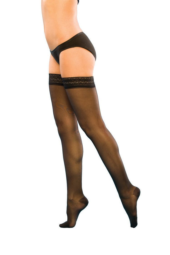Sigvaris 120 Series Sheer Fashion Thigh 15-20mmHg