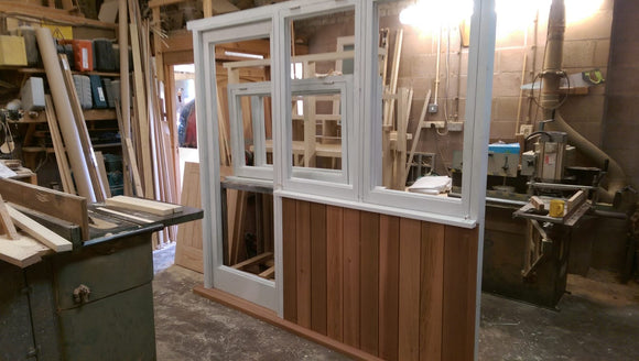 Porch Door and Frame in Accoya and Canadian western red cedar