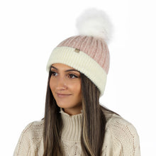 Load image into Gallery viewer, Super Soft Yarn Beanie With Faux Fur Pom