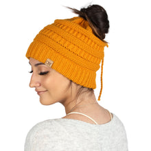 Load image into Gallery viewer, Solid Ponytail Beanie- ABBT331