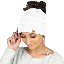 Load image into Gallery viewer, Solid Ponytail Beanie