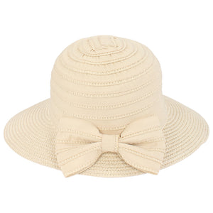 Straw Bucket with Bow