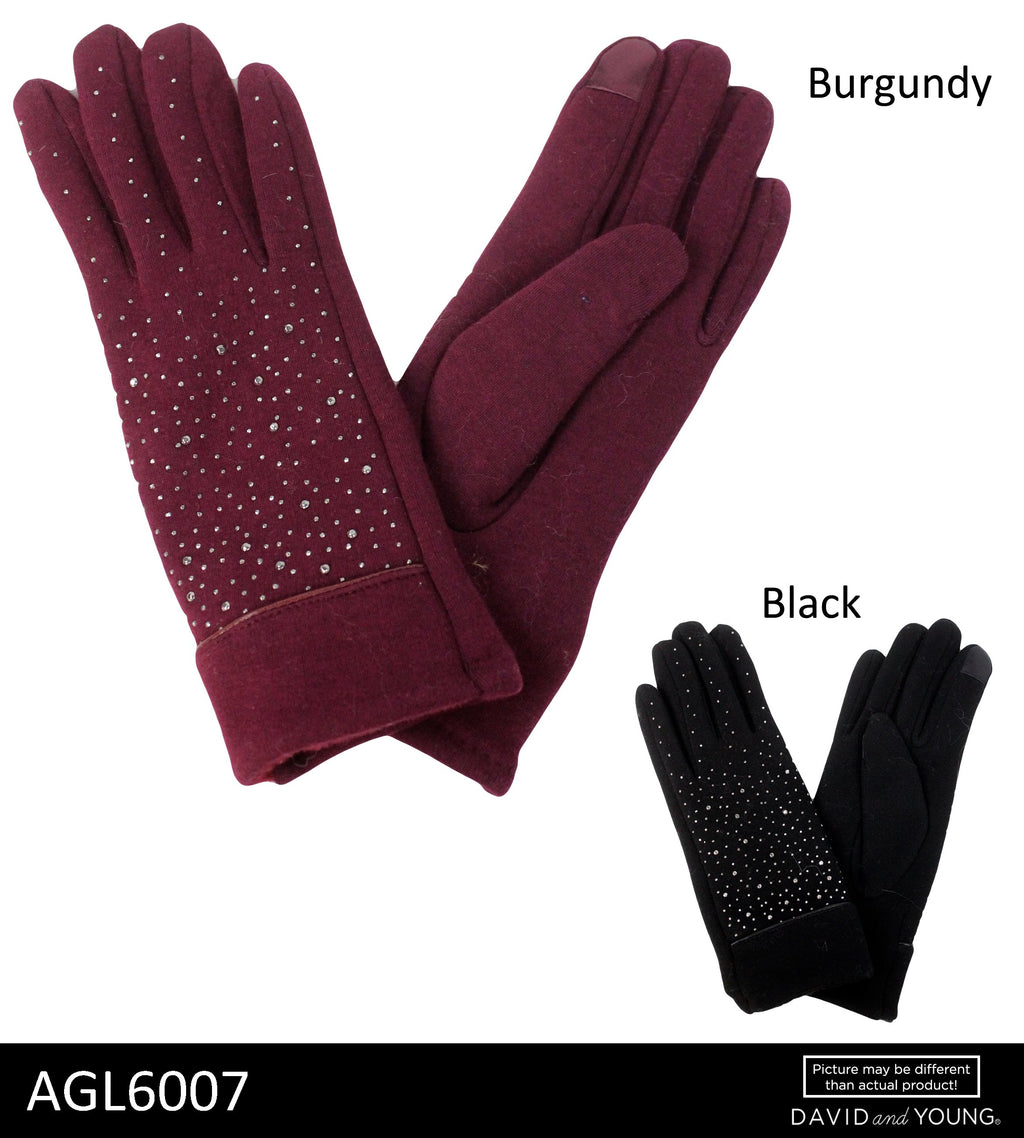 AGL6007 - Tech Touch Solid Soft Gloves with Studs