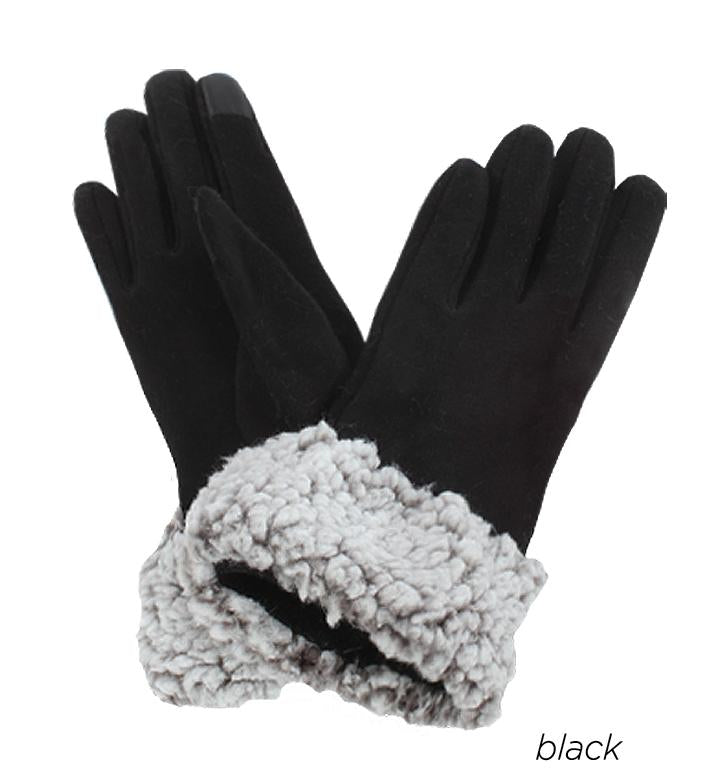Tech Touch Jersey Gloves with Sherpa Lining