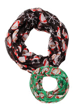 Load image into Gallery viewer, AINF80145 - Santa & Snowflake Infinity Scarf