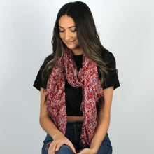 Load image into Gallery viewer, Vintage Bohemian Crinkled Scarf