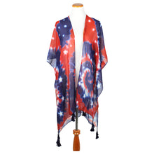 Load image into Gallery viewer, Tie Dye Americana Shawl