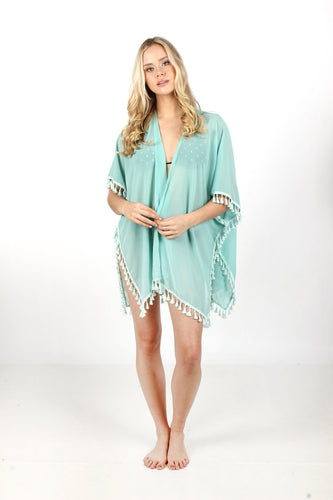 Solid Shawl with Tassels