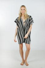Load image into Gallery viewer, Lightweight Stripe Shawl with Drawstring