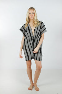 "ATO9040 - Lightweight Stripe Shawl with Drawstring""31X62"""
