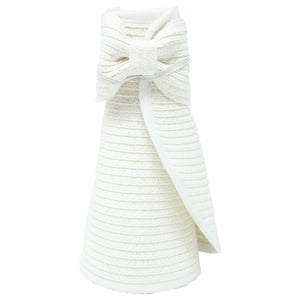 Straw Roll Up Visor with Bow