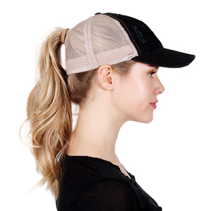 Distressed Mesh Back Ponyflo® Cap