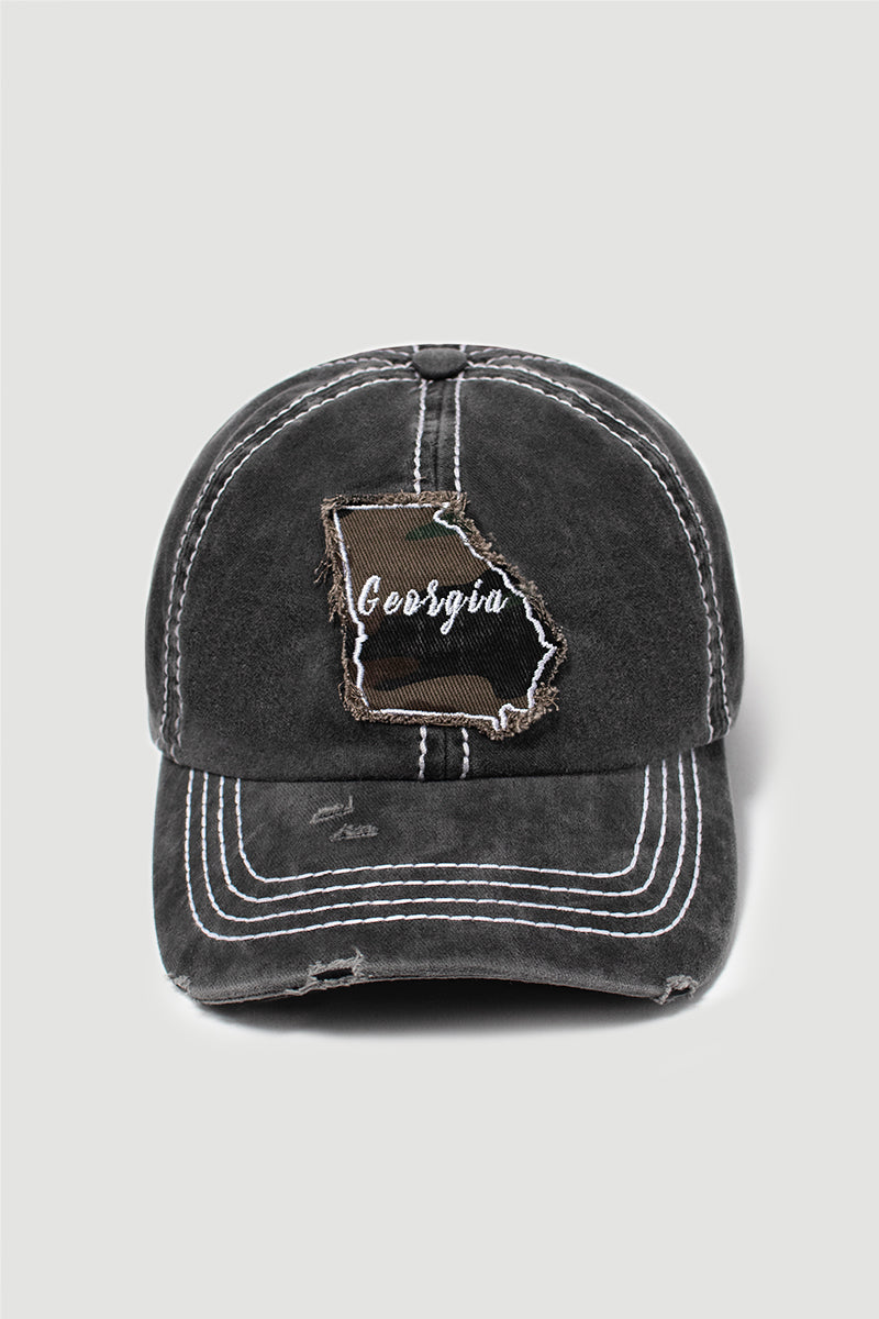Georgia State Camo Patch Baseball Cap