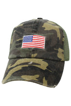 Load image into Gallery viewer, American Flag Camo Mesh Bak