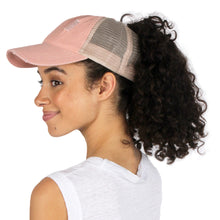 Load image into Gallery viewer, Distressed Mesh Back Ponyflo® Cap